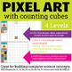 Digital Pixel Art with Counting Cubes Everyday Themes BUNDLE 2