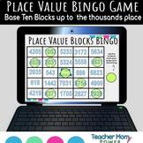 Digital Place Value Base Ten Pieces {Thousands Place} Bingo Game (Google Slides)