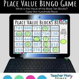 Digital Place Value Blocks/Base Ten Pieces Bingo Game Google Slides