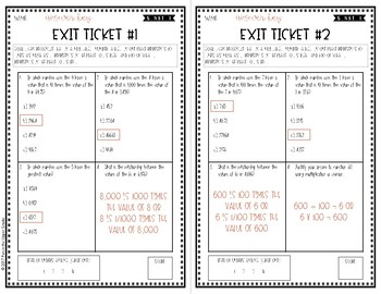 Digital Place Value Exit Tickets {5.NBT.1} For use with Google Forms™