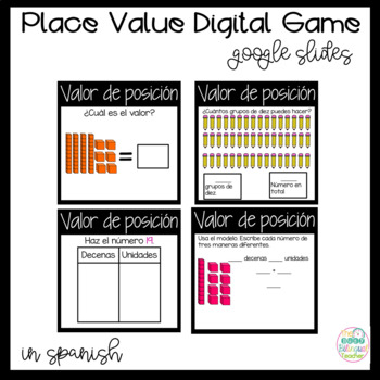 Digital Place Value Game for Google Slides in *Spanish*
