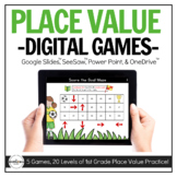 Digital Place Value Games (1st Grade) for Distance Learning