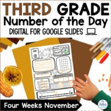 Digital Place Value Google Slides™ Number of the Day Third