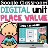 Digital Place Value Google Slides for 2nd Grade   3 Digit Numbers