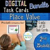 Digital Place Value Task Cards Bundle {2nd Grade}