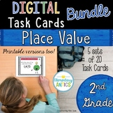 Digital Place Value Task Cards Bundle