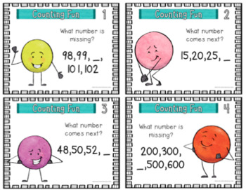 Digital Place Value Task Cards- Skip Counting {2nd Grade}