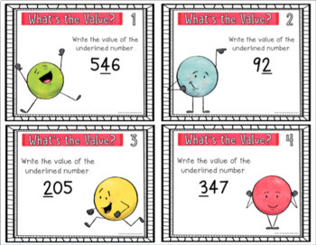 Digital Place Value Task Cards- What's the Value? {2nd Grade}