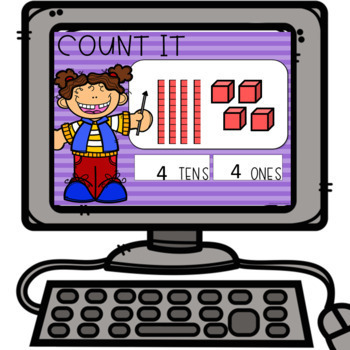 Digital Place Value for the Google Classroom- Building and Counting