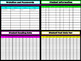 Digital Teacher Planner using Google Slides Black or White with Neon