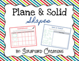 Digital Plane & Solid Shapes Activity (Distance Learning)