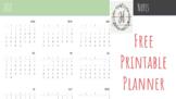Printable Planner 2018 - Farmhouse Theme