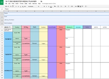 Editable Teacher Planner {Digital} Lesson Plan Templates