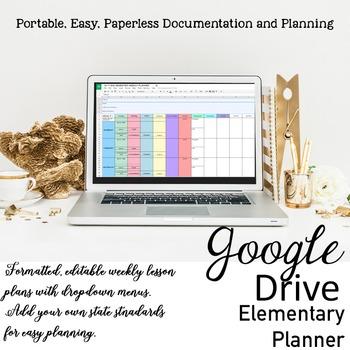 Editable Teacher Planner {Digital} Lesson Plan Templates