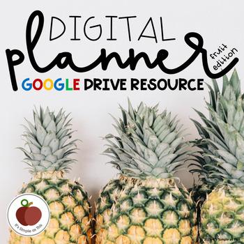 digital planner editable google drive resource fruit edition