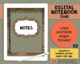 Digital Planner - Elodie Digital Notebook - iPad Planner -