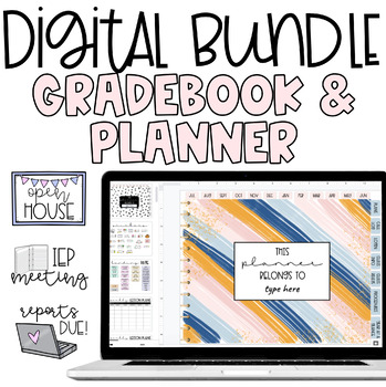 Digital Planner & Mark Book BUNDLE! Google Sheets Links and Video Tutorials!