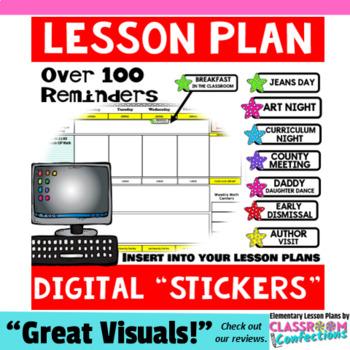"Digital Planner ""Stickers"": Insert into Digital Lesson Plans"