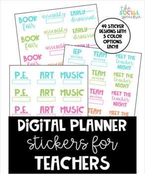 Digital Planner Stickers for Teachers