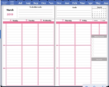 Digital Planner for Noteshelf or Goodnotes or simply with PDF Reader