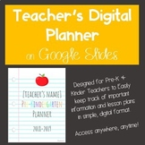 Digital Planner for Pre-K-1st on Google Slides
