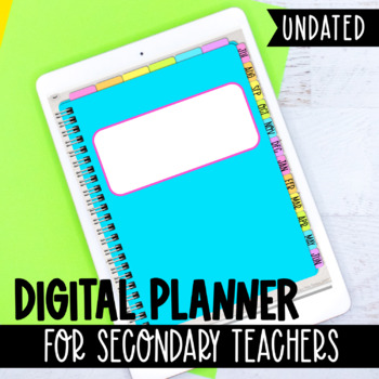 Digital Planner for Secondary Teachers