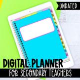 Digital Planner for Secondary Teachers