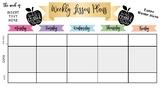 Digital Planning Sheet (1 Class taught + advisory)