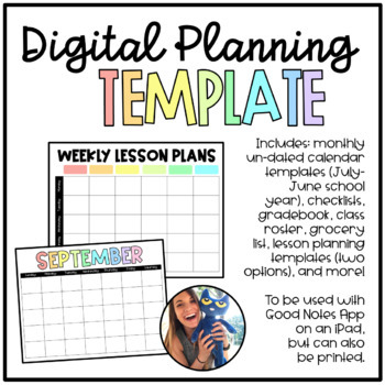iPad Digital Planning Templates for GoodNotes