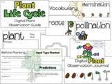 Digital Plant Observation Journal w/ Task Cards (EDITABLE) (GOOGLE)