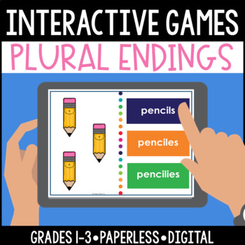 Interactive, Digital and Paperless Plural Endings Games