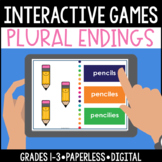 Distance Learning Digital Paperless Interactive, Plural Endings Games