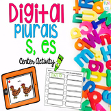 Digital Plurals (s, es) Center Activity