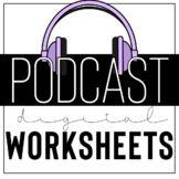 Digital Podcast Worksheets: Plan your podcast unit with th