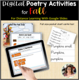 Digital Poetry Activities | Fall | Distance Learning