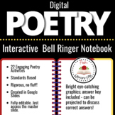 Digital Poetry Bell Ringers and Activities Distance Learning