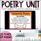 Digital Poetry Elements Unit | Writing Poems | Figurative Language Anchor Charts