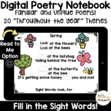 Digital Poetry Notebook for Distance Learning with Boom Cards!