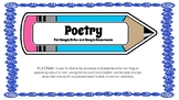 Digital Poetry Worksheets for Google Drive and Google Classroom