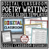 Digital Elements of Poetry Writing Notebook, Posters for Google Classroom