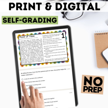 Digital Point of View Task Cards for Google Forms™