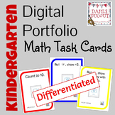 Digital Portfolio Math Task Cards