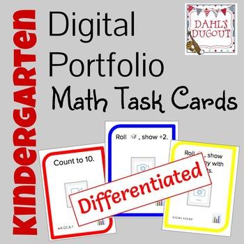 Digital Portfolio Math Task Cards