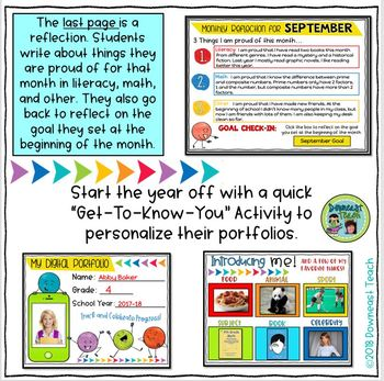 digital portfolio monthly templates for google drive by downeast teach