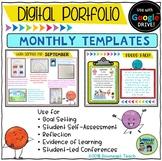 Digital Portfolio Monthly Templates for Google Drive