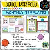 Digital Portfolio Monthly Templates for Google Drive