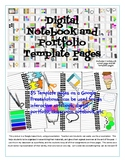 Digital Portfolio and Interactive Notebook Template Pages