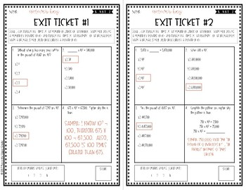 Digital Powers of 10 Exit Tickets {5.NBT.2} For use with Google Forms™
