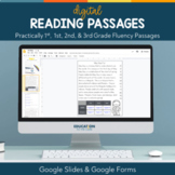 1st, 2nd, 3rd Grade Digital Reading Comprehension Passages