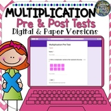 Distance Learning Digital Pre & Post Multiplication Tests